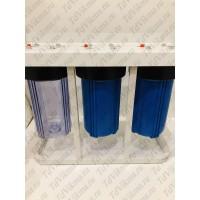 """Колба фильтр для тонкой очистки Вig Вlue 10 тройной  АкваВик  (Подключение латунь 1"""")"""