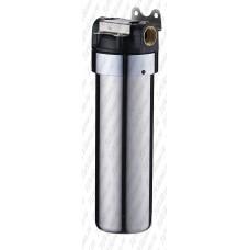 Фильтр тонкой очистки из нержавеющей стали с пластиковой крышкой 1/2 с картриджем АкваВик