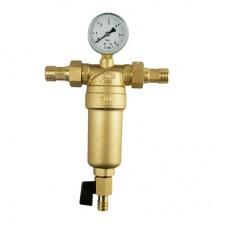 Фильтр механической очистки Tim JH-3001Y2 с манометром (металлическим корпусом) 1*