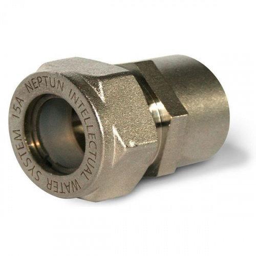 Муфта ДУ 15*1/2  внутренняя  резьба (никелированная) TIM ZTI.612.001504N