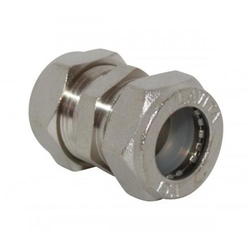 Муфта ДУ 20*20 соединительная (никелированная) TIM ZTI.613.002020N