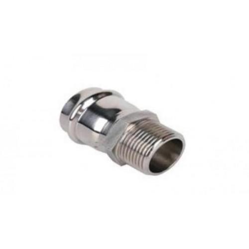 Пресс-фитинг из нержавеющей стали ДУ-15mm*1/2 с наружной резьбой TIM ZTI.501.001504