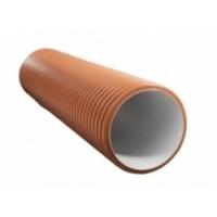 Труба двухслойная ф368/315 L0,6м (колодец) цвет кирпич