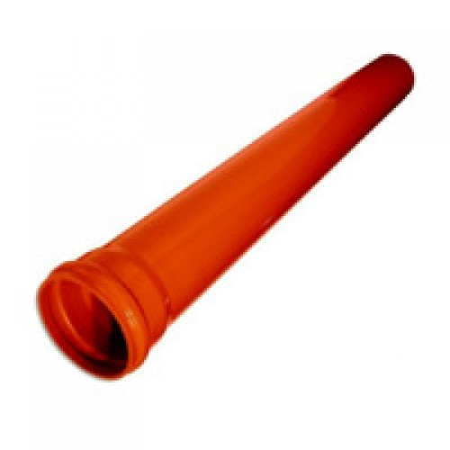 Труба ПВХ ф 160х1,00м s 3,2 цвет кирпич VIKMA