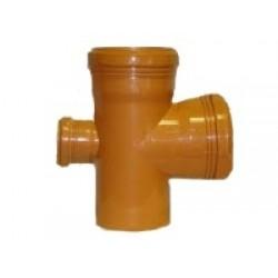 ПВХ Крестовина одноплоскастная наружная Ø 110-110-50-90°