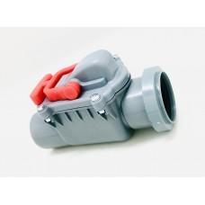 Обратный клапан ПВХ 50 (серый)