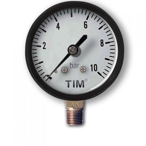 Манометр радиальный Y-50-10 (прямой) 1/4 TIM