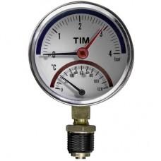Термо-Манометр радиальный 10 бар (прямой) TIM
