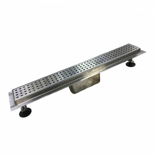 Трап-лоток с горизонтальным выпуском решетка с квадратной ячейкой 750 мм TIM BAD427502