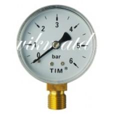 Манометр радиальный Y-50-6 (прямой) 1/4 TIM