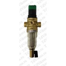 Фильтр промывной (самоочищающийся) в стеклянным корпусом с редуктором давления   «Honeywell»  FF06 -1/2 AA