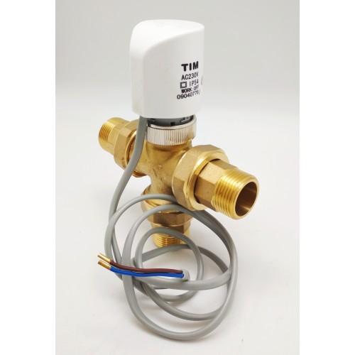 """Термостатический смеситель с электро приводом 3/4"""" TIM BL8803A"""