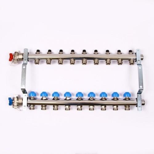 Распределительный коллектор REHAU HKV на 9 контуров нержавеющая сталь (12180911001)