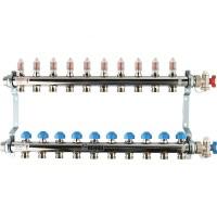 Распределительный коллектор с расходомерами REHAU HKV-D на 10 контуров