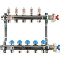 Распределительный коллектор с расходомерами REHAU HKV-D на 5 контуров