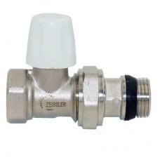 Клапан нижний радиаторный настроечный прямой с конусным затвором и кольцевым уплотнением полусгона