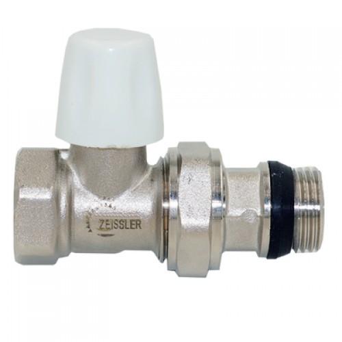 Клапан радиаторный настроечный (конусный затвор) прямой 1/2 с кольцевым уплотнением