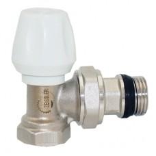 Вентиль радиаторный регулировочный угловой с конусным затвором и кольцевым уплотнением полусгона