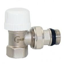 Клапан радиаторный термостатический угловой с преднастройкой  и кольцевым уплотнением полусгона