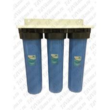 """Колба фильтр для тонкой очистки Вig Вlue 20 тройной АкваВик  (Подключение латунь 1"""")"""
