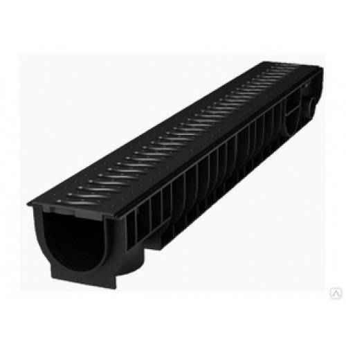 Лоток пластиковый SteePlain DN100 H100 с  решеткой пластиковой