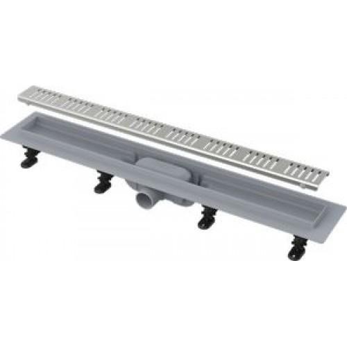ALcaPLast Водоотводящий желоб с порогами для перфорированной решетки, APZ8-750