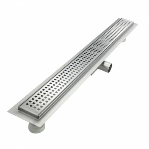 Трап-лоток с горизонтальным выпуском решетка с квадратной ячейкой 650 мм TIM BAD426502
