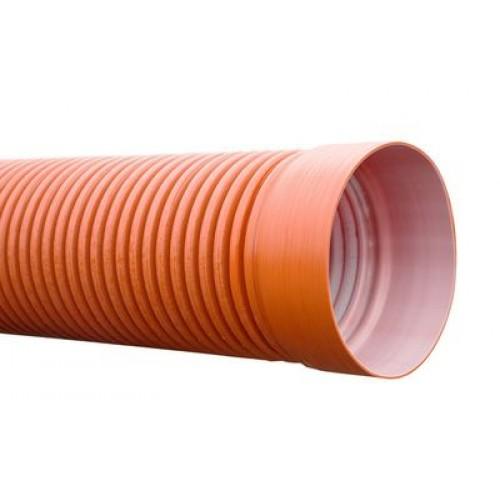 Труба двухслойная ф233/200 L0,6м (колодец) цвет кирпич