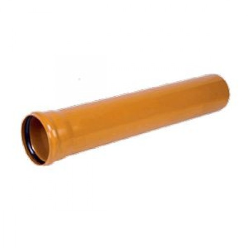 ТРУБА-ПВХ   Ф110-0,50м.  РЫЖ. Flextron (толщ.3.2мм)