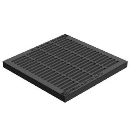 Решетка пластиковая SteeStart 300х300 А15  черная