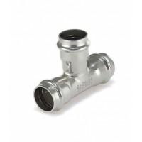 Трехраструбный пресс-тройник ZEISSLER 22*15*22mm из нержавеющей стали
