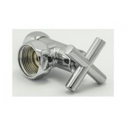 Вентиль запорный угловой для полотенцесушителей (крестовой), (пара)