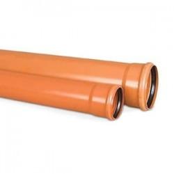 Труба ПВХ Flextron ф110х1,50м толщина стенки 3,2 цвет кирпич