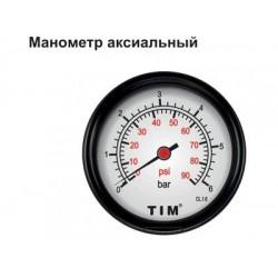 """Манометр TIM аксиальный Y-50T-10  1/4"""""""