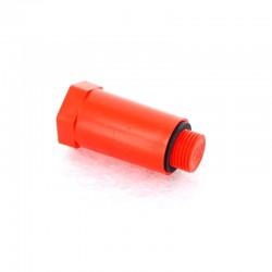 Заглушка ПП  20х1/2 наружная резьба красная VIKMA
