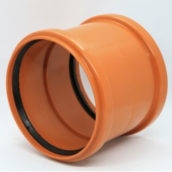 ПВХ Муфта двухраструбная для наружной канализации Ø110