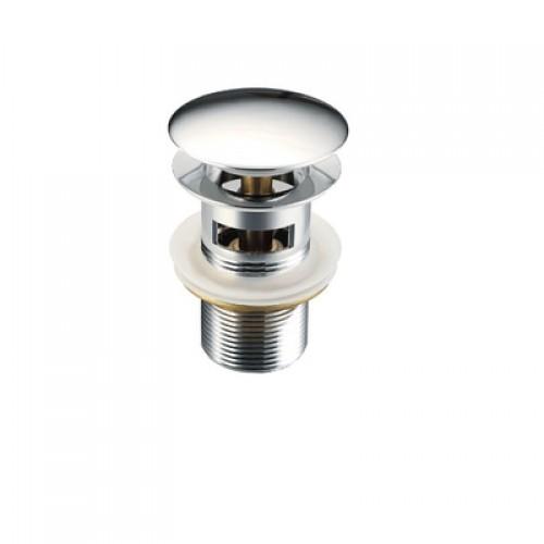 Донный клапан  с переливом (хром)  8 см