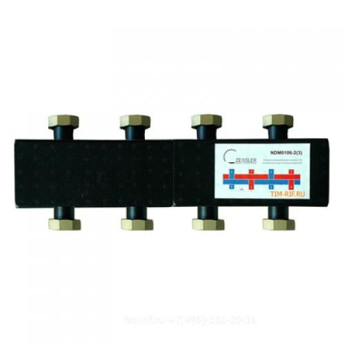 Стальной распределительный коллектор 4(7) отопительных контура. В теплоизоляции DN 25