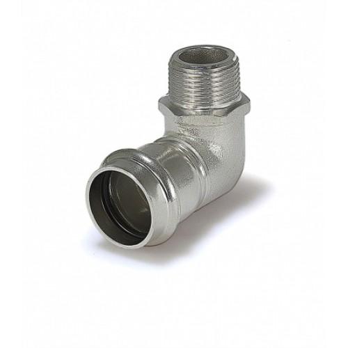 Пресс-угольник ZEISSLER 15*1/2 с наружной резьбой из нержавеющей стали