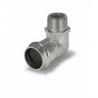 Пресс-угольник ZEISSLER 28mm*3/4 с наружной резьбой из нержавеющей стали
