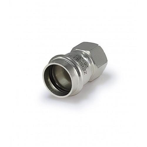 Пресс-фитинг ZEISSLER 28mm*1 с внутренней резьбой из нержавеющей стали
