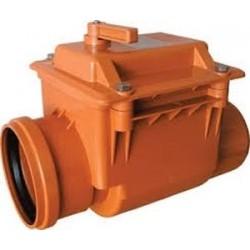 Канализационный ПП обратный клапан 110 мм