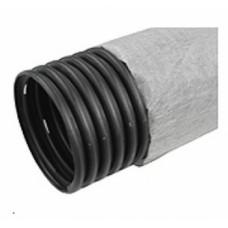 Труба дренажная, гофрированная с фильтром диам 110 (бухта 50м)
