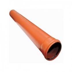 Труба ПВХ Flextron ф160х3,00м толщина стенки 3,2 цвет кирпич