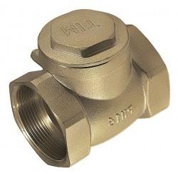 """Обратный клапан горизонтальный с металлическим штоком 1"""" внутр/внутр TIM JH-1012C"""