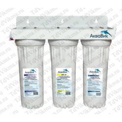Проточные фильтр  3-ой  для воды  АкваВик